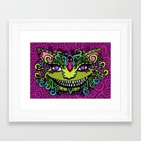 cheshire cat Framed Art Prints featuring CHESHIRE by AZZURRO ARTS