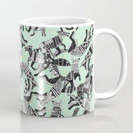 woodland fox party mint Coffee Mug
