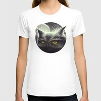 owl T-shirts featuring Owl & The Moon by Dr. Lukas Brezak