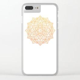 Sun Mandala Clear iPhone Case