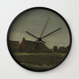 Cottages Wall Clock