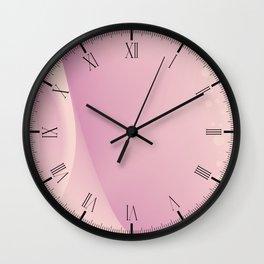 Pink Backdrop Wall Clock