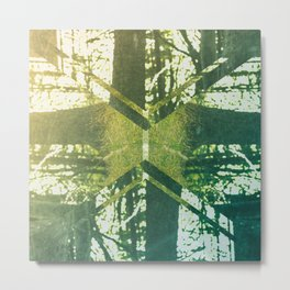 Abstract Forest Metal Print