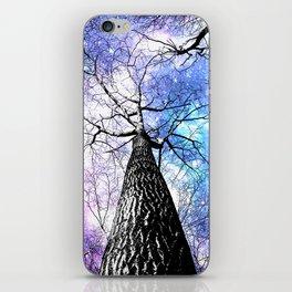 Wintry Trees Purple Blue Space  iPhone Skin