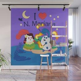 Ernest & Coraline | I love Northern Mariana Islands Wall Mural