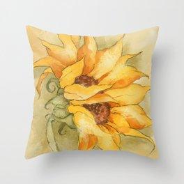 Fresco Sunflower Throw Pillow