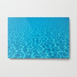 Swimming pool water sun reflection. Ripple Water. Metal Print