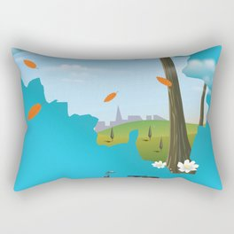 Belgium Map travel poster Rectangular Pillow