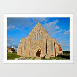 Church with no roof Art Print