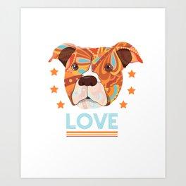 Love Dog Art Print