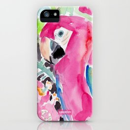 SCARLET THE MACAW iPhone Case