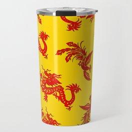 Phoenix Dragon Feng Shui Travel Mug