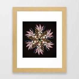 Flemish Floral Mandala Framed Art Print