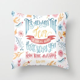 IT'S ALWAYS THE FEAR Throw Pillow
