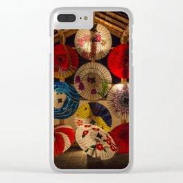 Japanese umbrellas Clear iPhone Case