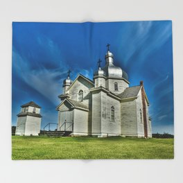 Country Church Throw Blanket
