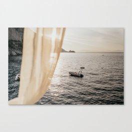 "Mediterranean Dream Series ""Sea View"" | Travel Photography Italy Canvas Print"