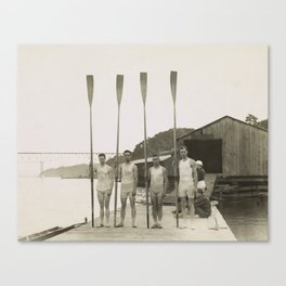 Vintage Rowing Photo - Penn Varisty, 1913 Canvas Print