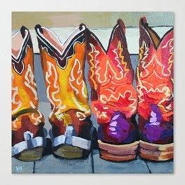 Boot Heels Canvas Print