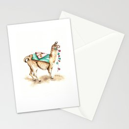 Watercolor Llama Stationery Cards