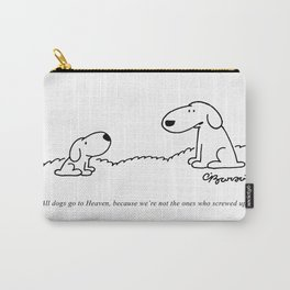 Barsotti, All dogs Go To Heaven Artwork, for Wall Art, Prints, Tshirts, Men, Women, Youth Carry-All Pouch