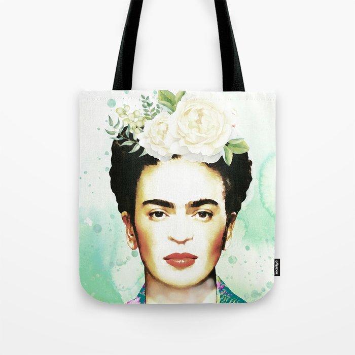 Watercolor Frida Kahlo Tote Bag