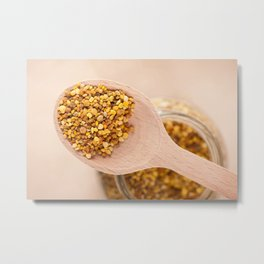 Fresh pollen grains portion Metal Print