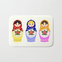Russian matryoshka nesting dolls Bath Mat