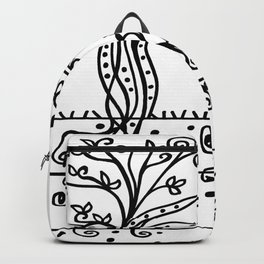 Strong Roots - Black and White Backpack