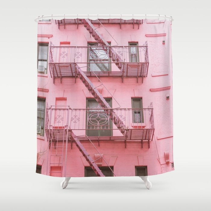 Pink Soho NYC Shower Curtain