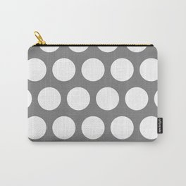 Big polka dots on gray Carry-All Pouch
