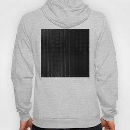Rhythm of white dots on black background Hoody