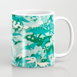 Dino world | blue Coffee Mug