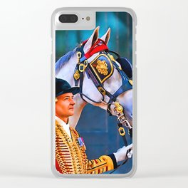Royal Mews Carriage Horses Clear iPhone Case