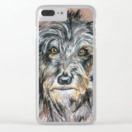 Irish Wolfhound Clear iPhone Case