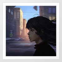 wind Art Prints featuring Wind by Ilya Kuvshinov