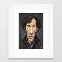 benedict Framed Art Prints featuring Celebrity Sunday ~ Benedict Cumberbatch by rob art | illustration