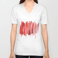 the strokes V-neck T-shirts featuring Red Strokes by Social Proper
