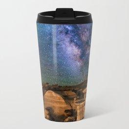 Milky Way Night Sky Over Mountains Travel Mug