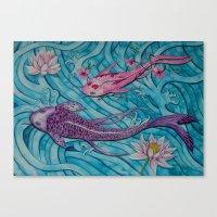 ohana Canvas Prints featuring Ohana by Marisa Johnson :: Art & Photography