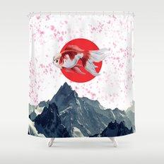 Japanese Fish Shower Curtain