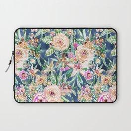 Navy MAUI MINDSET Colorful Tropical Floral Laptop Sleeve