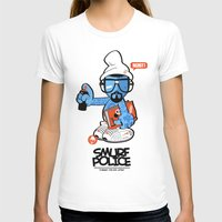 police T-shirts featuring SMURF POLICE by benny the kid