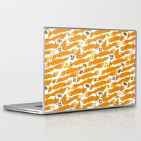 kitsune Laptop & iPad Skins featuring Kitsune by Mamoizelle