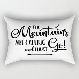 The Mountains are calling (logo) Rectangular Pillow