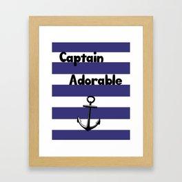 Captain Adorable Framed Art Print