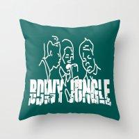 reggae Throw Pillows featuring Singing Reggae - Bdwy Jungle by The Peanut Line