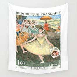 1970 FRANCE Edgar Degas Ballet Dancer Postage Stamp Wall Tapestry