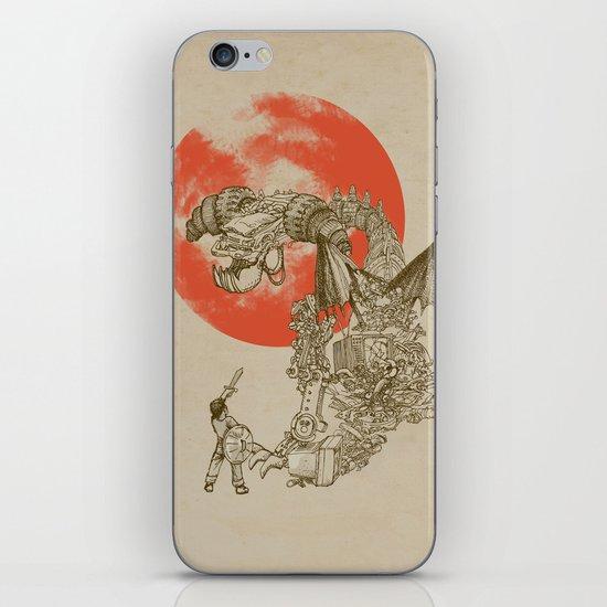 Junkyard Dragon (monochrome version) iPhone & iPod Skin