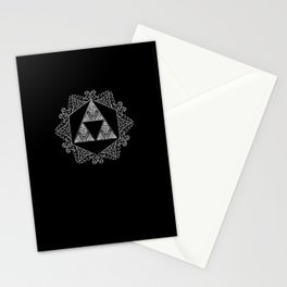 Triforce Aztec White Pattern Stationery Cards